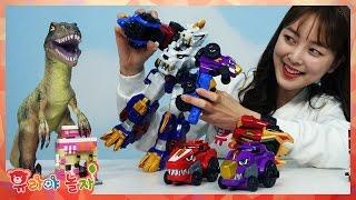 getlinkyoutube.com-[유라] 장난감(toy)_최강공룡합체 다이노코어 샤벨코어 스테고코어 울트라디버스터 티라노 코어체인지 공룡 로봇 dino core robot
