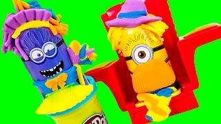 getlinkyoutube.com-Minions Play-Doh Disguise Lab Laboratorio de Disfraces de Minions Juguetes Play Doh Toy Videos