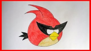 getlinkyoutube.com-How to draw Super Red Bird from Angry Birds Space