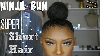 getlinkyoutube.com-Ninja Bun on Super Short Hair | SheemaJtv