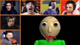 Let's Players Reaction To Making Baldi Angry   Baldi's Basics In Education And Learning