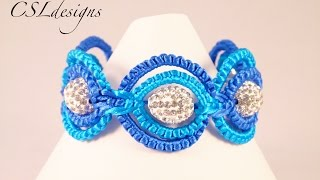 getlinkyoutube.com-Double circle macrame bracelet