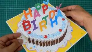 getlinkyoutube.com-Happy Birthday Cake Pop Up Card Tutorial