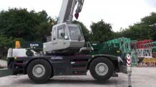 getlinkyoutube.com-KATO 25 Ton City Crane set up and driving at Rivertek Services Ltd