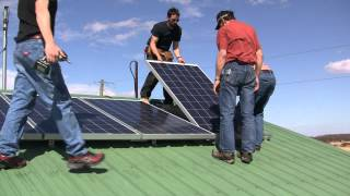Solar panel install to SkyMax grid tie inverter DIY How To Missouri Wind and Solar