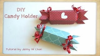 getlinkyoutube.com-Valentine's Day Crafts - DIY Paper Candy Holder & Treat Roll Box for Birthday Party Favors