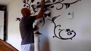 getlinkyoutube.com-Pintura con Motivo Floral, Losadart, técnicas decorativas.