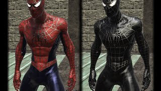 getlinkyoutube.com-Web Of Shadows Modded Ep 03- Sam Raimi Red and Black Suits