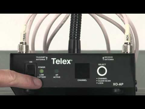 TELEX Legacy XO-AP wireless intercom tutorial