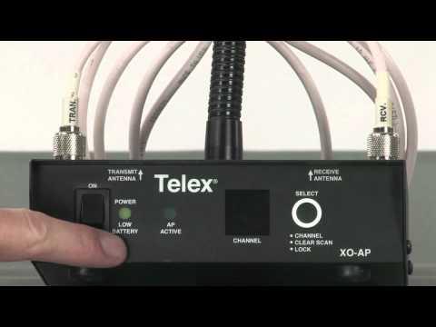 TELEX Legacy XO-AP wireless intercom tutorial
