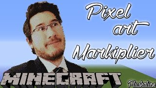 getlinkyoutube.com-Minecraft Pixel Art Speedbuild | Markiplier