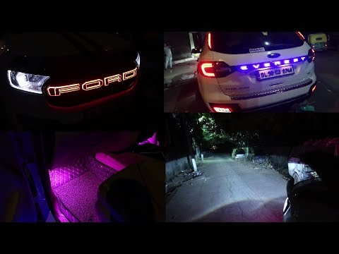 Modified Ford Endeavour | Ford Endeavour New Front Glowing Grill | Endeavour Black Kit