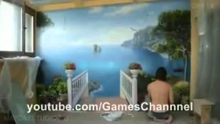 getlinkyoutube.com-فن الرسم على الجدار منتهى الدقة والإبداع
