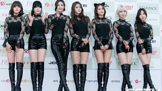 getlinkyoutube.com-[SSTV] AOA-EXID, 대세 걸그룹의 섹시미 대결! '추워도 각선미 자랑'(가온차트)