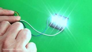 getlinkyoutube.com-Connecting Multiple 10mm Square Rebel LEDs in Series