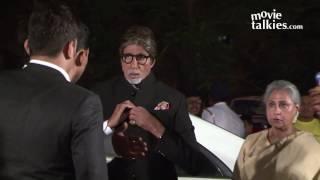 getlinkyoutube.com-Amitabh Bachchan And Rekha Together At Ronnie Screwvala's Daughter Wedding Reception