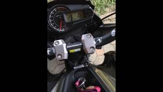 Kawasaki z125 pro top speed test on stand