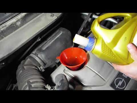 Замена моторного масла Chevrolet Captiva Opel Antara 2,4 motor oil change
