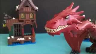 getlinkyoutube.com-Lego the Death of Smaug
