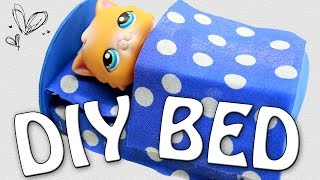 getlinkyoutube.com-Miniature Bed Tutorial - DIY for LPS and Dolls