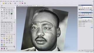 getlinkyoutube.com-Dicas simples de Artcam para fazer rostos