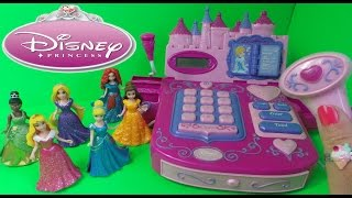 getlinkyoutube.com-CHIC BOUTIQUE Disney Princess Royal Talking Cash Register Till Toy with Cinderella, Belle & Aurora
