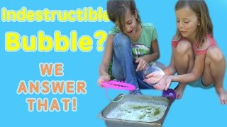 HOW TO MAKE INDESTRUCTIBLE BUBBLES! | WE ANSWER THAT EP. 9