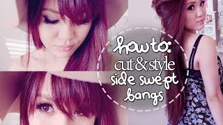 getlinkyoutube.com-How to Cut & Style Side Swept Bangs at Home