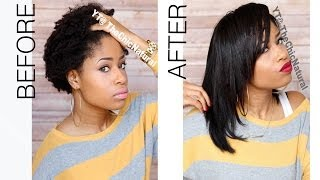 getlinkyoutube.com-How To: Straightening My Natural Hair