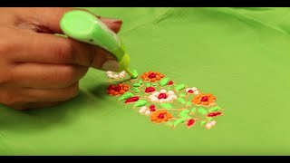 getlinkyoutube.com-Liquid Embroidered Green Kurti