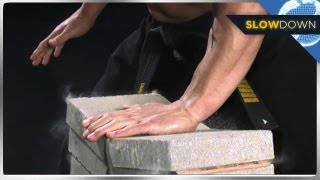 getlinkyoutube.com-Ninja Breaks Bricks in Slow Motion