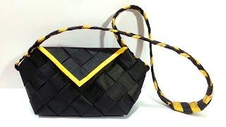 getlinkyoutube.com-How to make a purse using newspaper