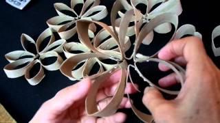 getlinkyoutube.com-Flor de Rolo de Papel Higiênico