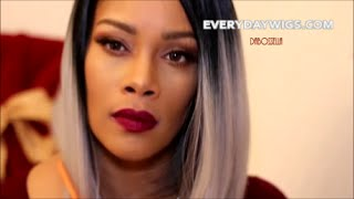 getlinkyoutube.com-Grey Ombre Bob Wig EVERYDAYWIGS.COM