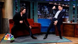 getlinkyoutube.com-Keanu Reeves Defends Jimmy's T'ai Chi (Late Night with Jimmy Fallon)