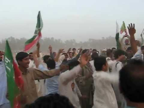 Ghumar at Imran Khan's Jalsa in Mianwali 24.3.2012