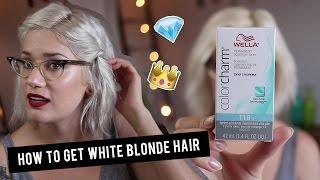 getlinkyoutube.com-How To Get White Blonde Hair With Wella T18 Toner | Btwsam