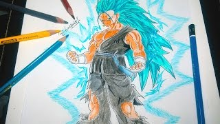 getlinkyoutube.com-DIBUJANDO A VEGETO SSJ 3 DIOS AZUL - Drawing Vegeto SSJ 3 God Blue