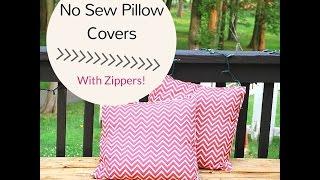 getlinkyoutube.com-How to Make a No Sew Pillow Cover with Zipper