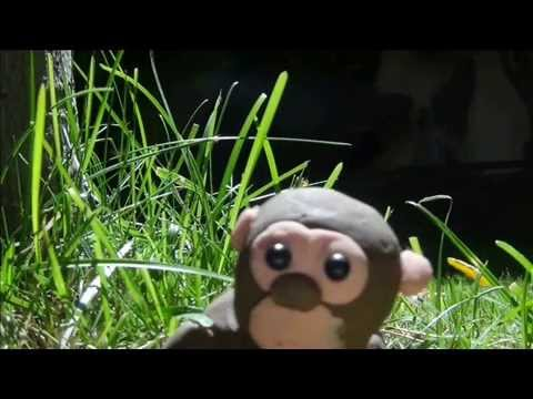|Animación de plastilina| El mono y los plátanos