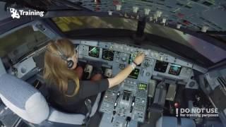 getlinkyoutube.com-Inexperienced girl trying to land A320