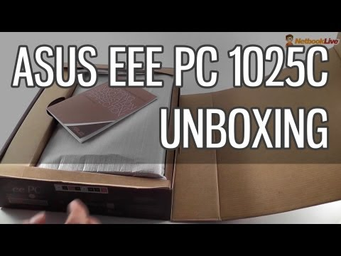 Asus EEE PC 1025C Unboxing - Mainstream Asus Netbook For 2012