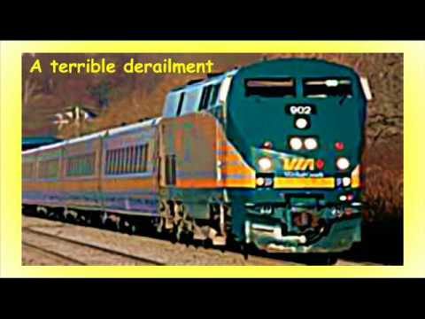 Train accident in Canada
