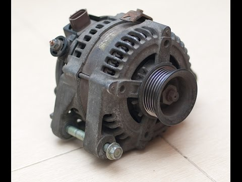 Снятие и ремонт генератора на Toyota RAV4 2002, двигатель 1az-fe. ЧАСТЬ 1.