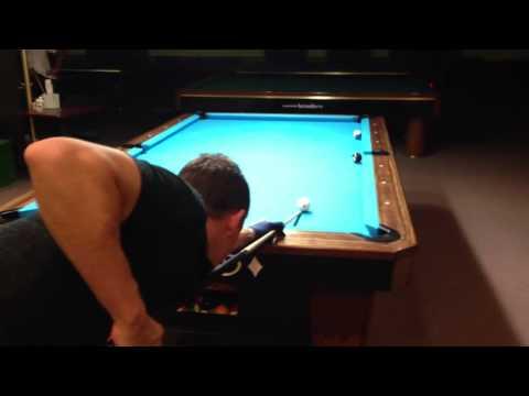 Shane Van Boening Makes Great Pool Billiards Draw Shot Back Spin