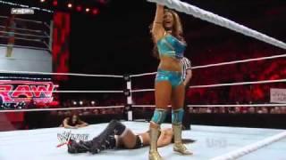 getlinkyoutube.com-WWE Raw 04-11-11 Brie Bella vs Eve Torres Divas Championship Match