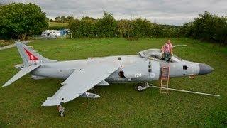 getlinkyoutube.com-Harrier Jump Jet In My Back Garden: Enthusiast Restores Iconic Plane
