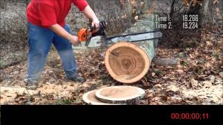 getlinkyoutube.com-Stihl MS 660 Vs. Stihl 066 Flat Top Vs. Stihl 066 BIG BORE.