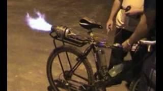 getlinkyoutube.com-Bicicleta com microturbina - Primeiro teste