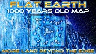 getlinkyoutube.com-FLAT EARTH - 1000 YEARS OLD MAP Shows MORE Land Beyond ANTARTICA Edge/Ice Wall - Honolulu Map